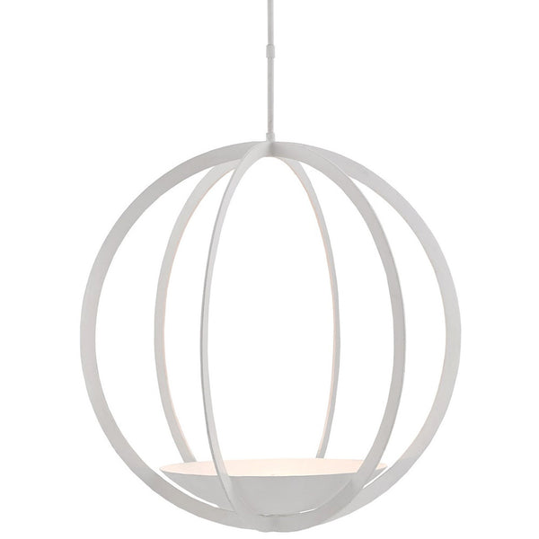 Currey and Company Minimalist White Orb Chandelier