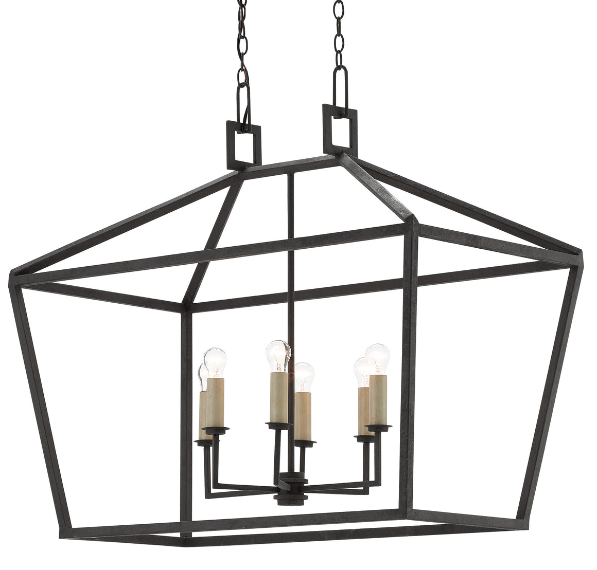 Currey and Company Denison Rectangular Lantern