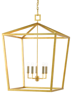 Currey and Company Denison Gold Grande Lantern