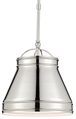 Currey and Company Lumley Nickel Pendant