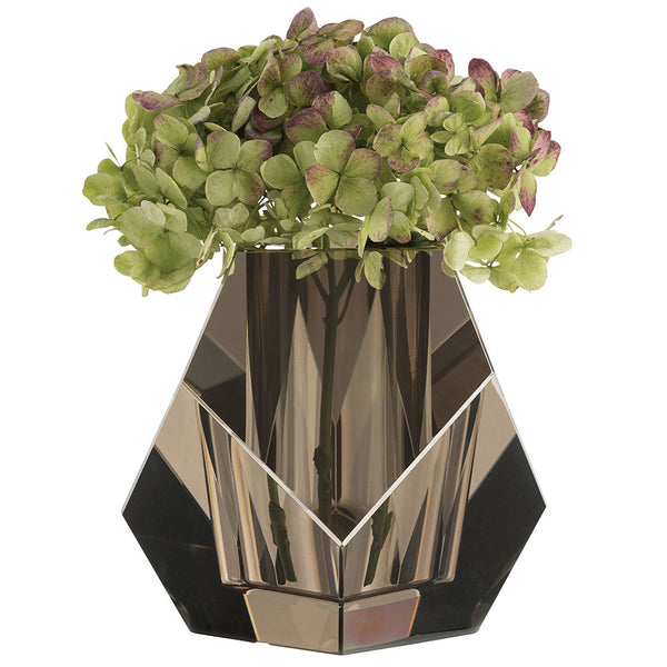 Arteriors Gemma Faceted Crystal Vase – Smoke