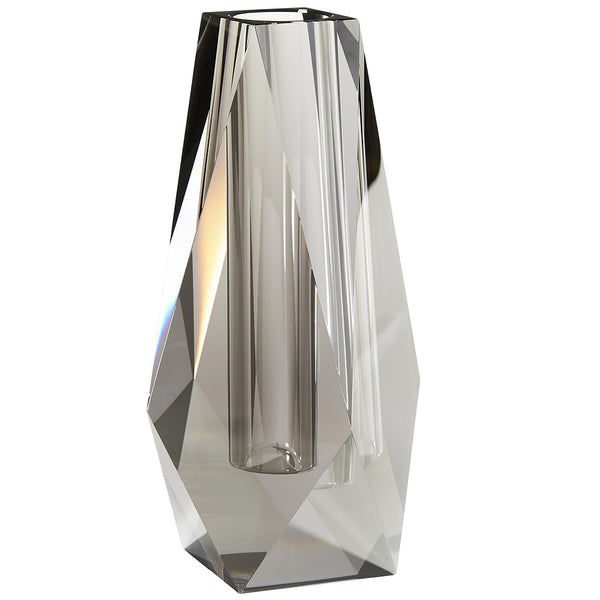Arteriors Gemma Faceted Crystal Tall Vase – Smoke