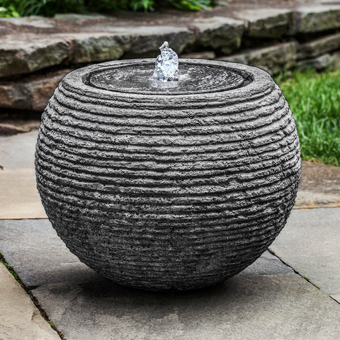 Sphere Textured Fountain - Stone Grey
