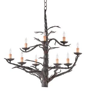 Currey and Company Treetop Iron Large Chandelier