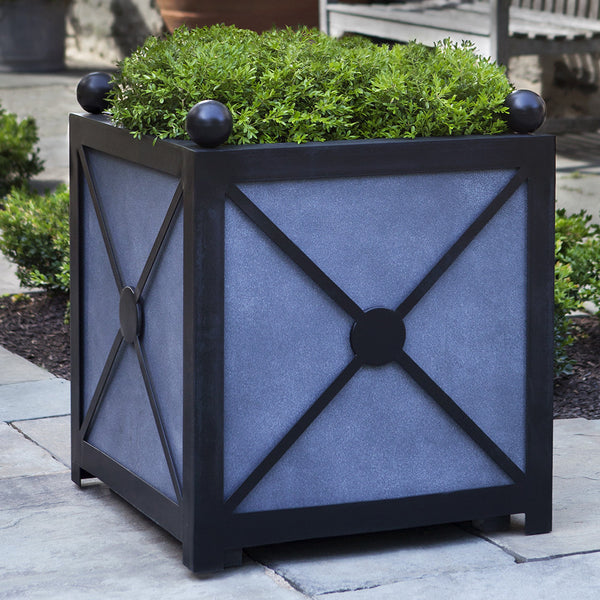 Medium Geometric Cube Planter – Dark Grey