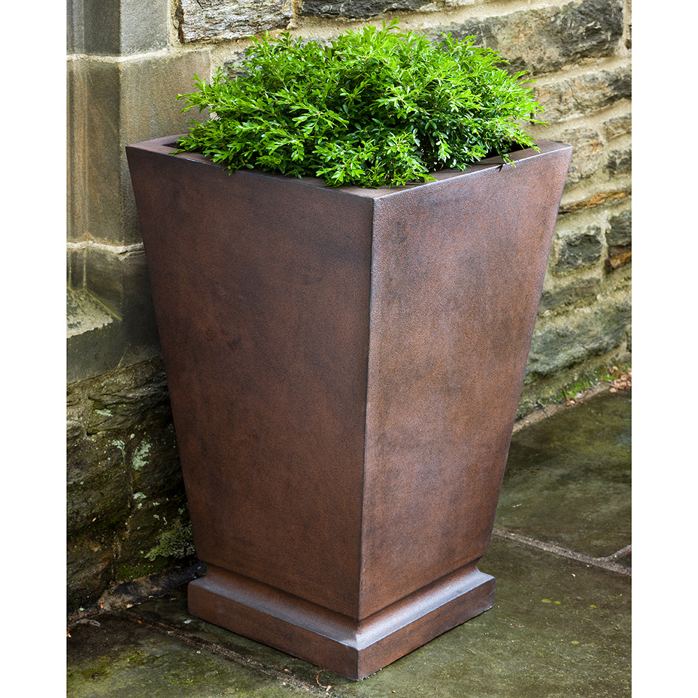 Square Tapered Indoor/Outdoor Planter - Rust