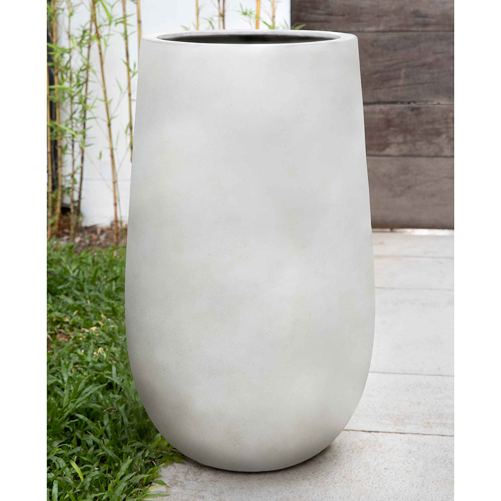 Ivory Lite Tall Fiber Clay Planter – Large