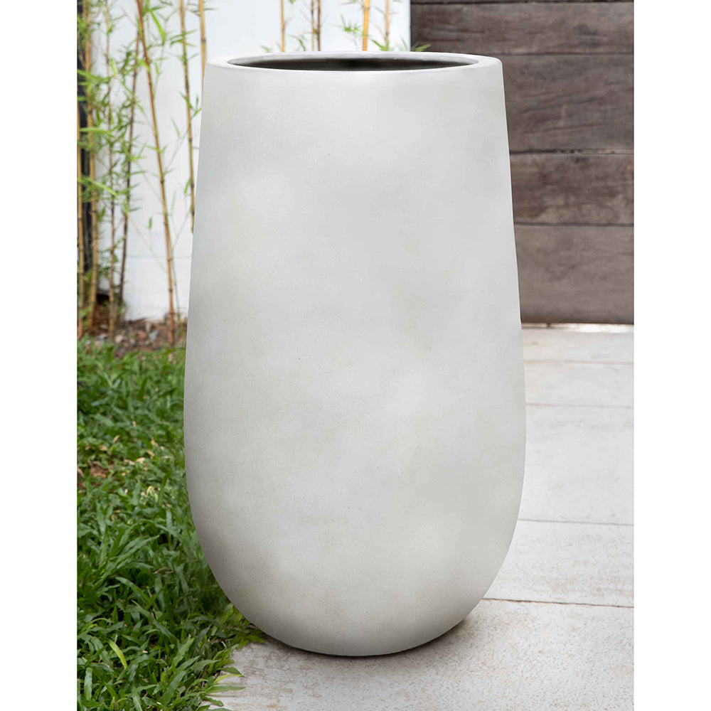 Ivory Lite Tall Fiber Clay Planter – Small