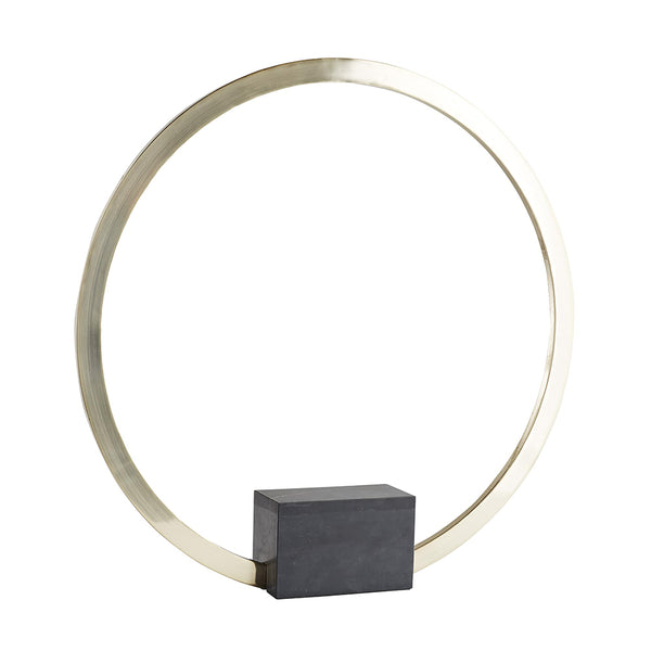 Arteriors Michelle Small Halo Sculpture with Black Marble Base