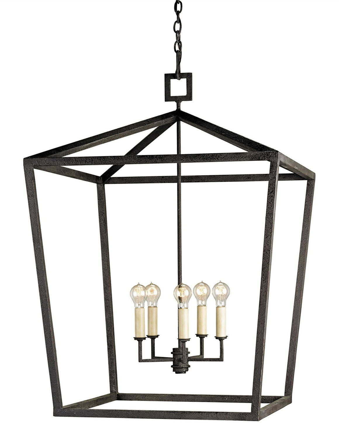 Currey and Company Denison Black Grande Lantern