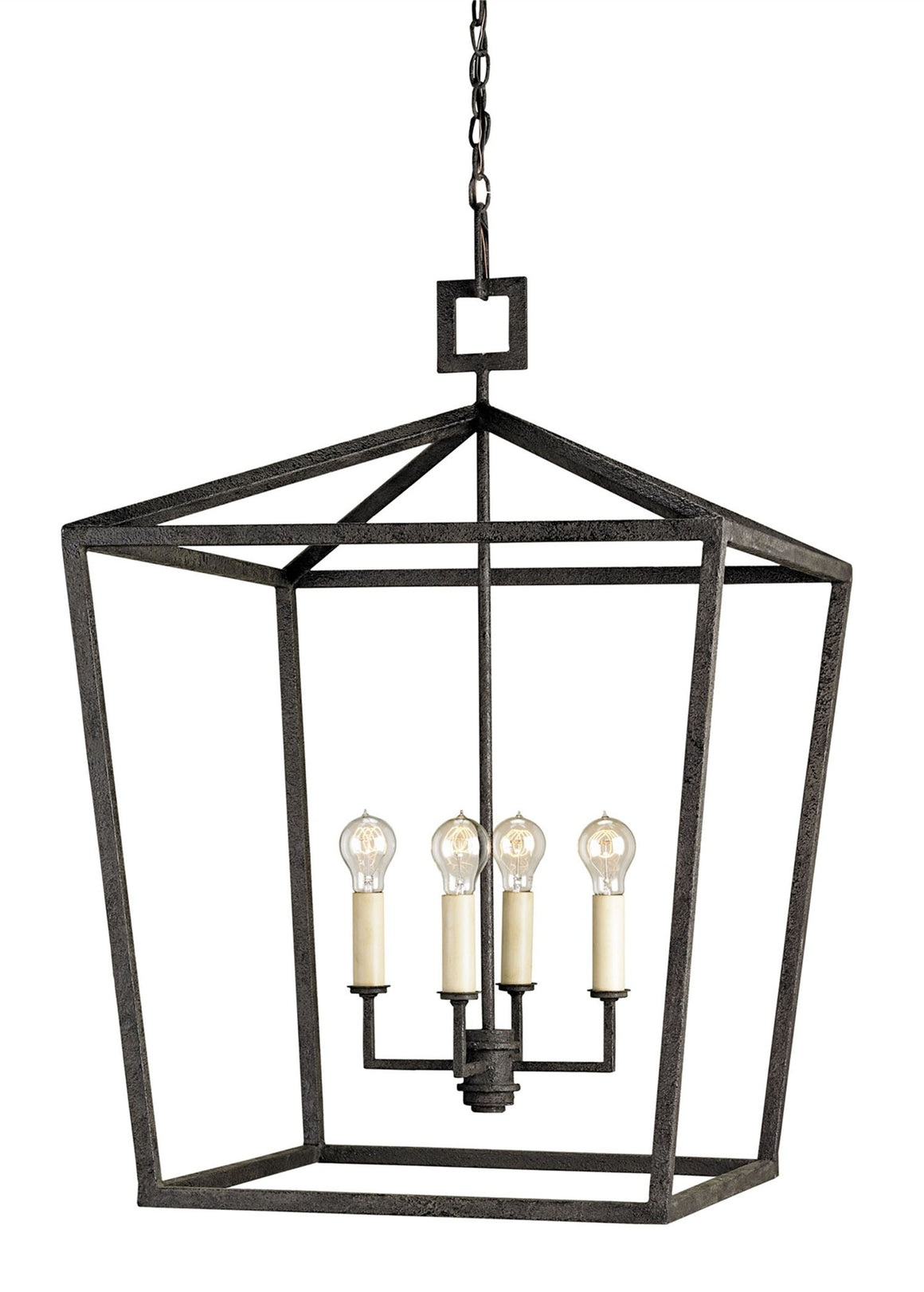 Currey and Company Denison Black Large Lantern
