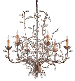 Currey and Company Crystal Bud Cupertino Medium Chandelier