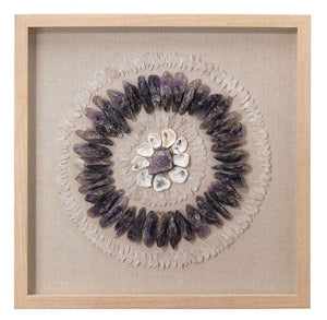 Crystal Framed Wall Art in Amethyst and Selenite