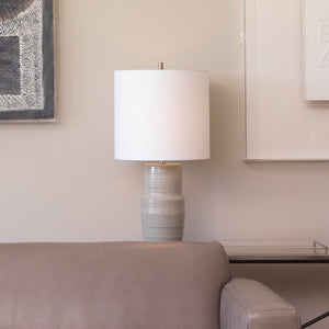 Goodman Table Lamp in Grey Ceramic