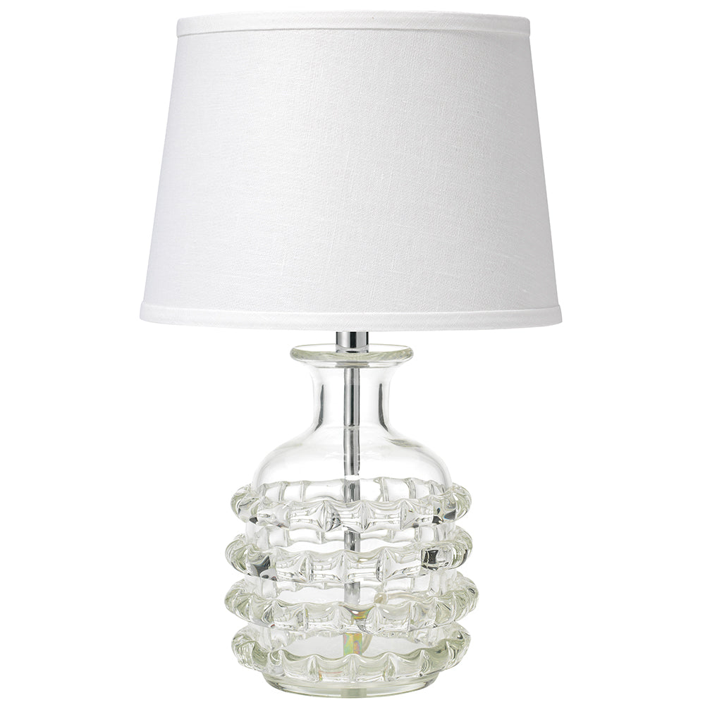 Small Clear Glass Table Lamp With Shade