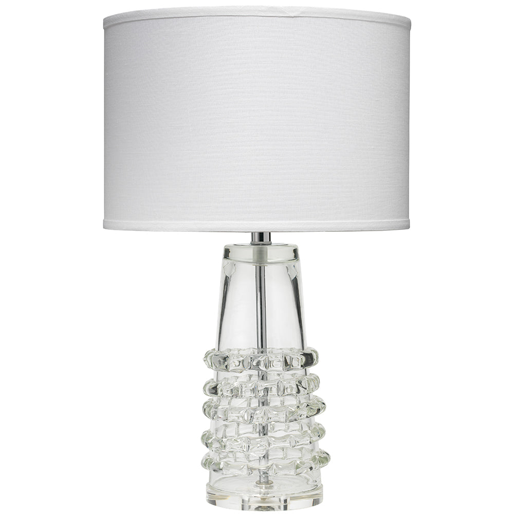 Glass Table Lamp tall clear glass table lamp with shade   scenario home