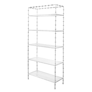 Worlds Away Addie Sculptural Etagere - Silver Leaf