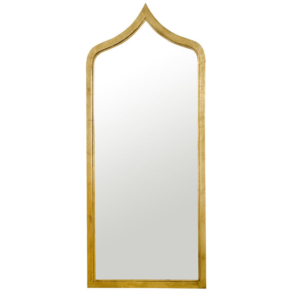 Extra Long Moroccan Iron Mirror – Gold Leaf