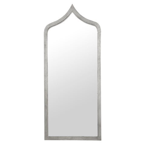 Extra Long Moroccan Iron Mirror – Silver Leaf