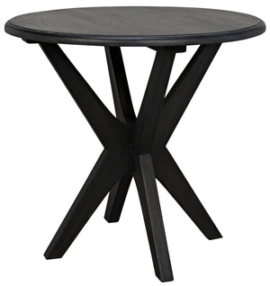 Noir Fox Asterisk Side Table - Charcoal Black