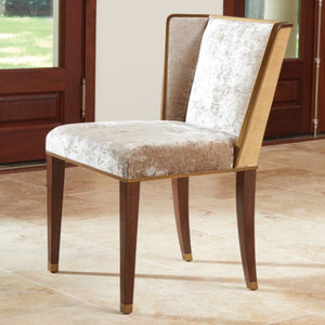 Small Wing Chair – Gold Velvet