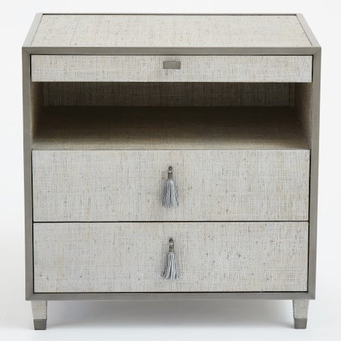 Argento 3-Drawer Bedside Chest – Silver Grey
