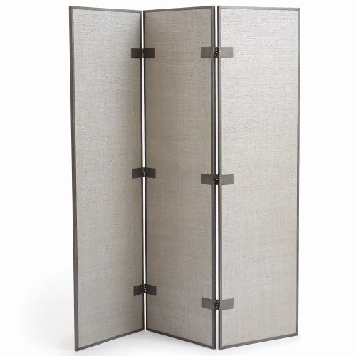Argento 3-Panel Floor Screen -Silver Grey