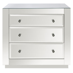 Worlds Away 3-Drawer Chest – Beveled Mirror