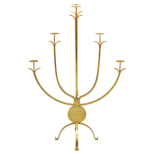 Large Decorative Five-Arm Candle Holder – Gold