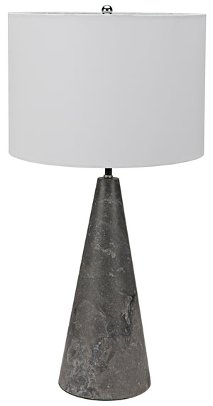 Noir Cone Lamp with Shade, Black Marble