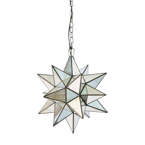 Worlds Away Small Glass Star Chandelier – Antique Mirror