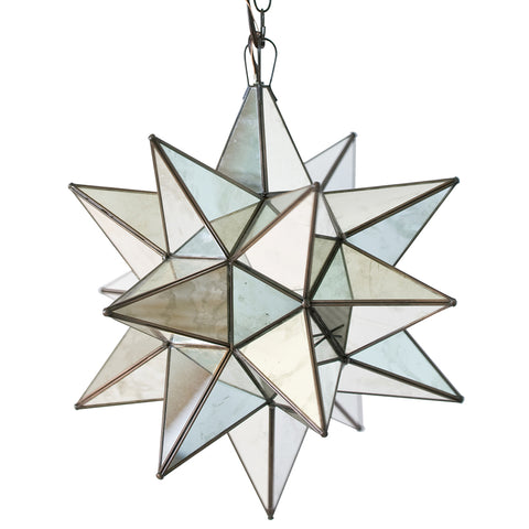 Worlds Away Extra Large Glass Star Chandelier – Antique Mirror