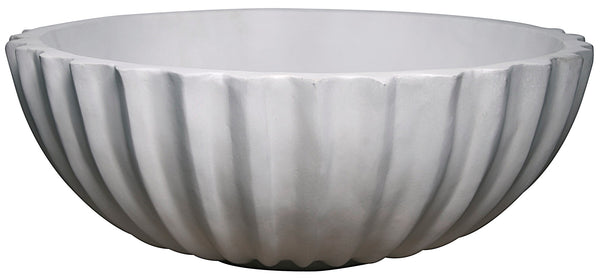 Noir Ridged Bang Bowl - Fiber Cement