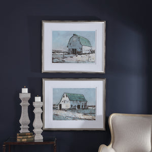 Plein Air Barns Framed Prints Set/2