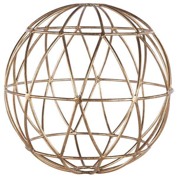 Gold Leaf Geometric Sphere – Two Sizes