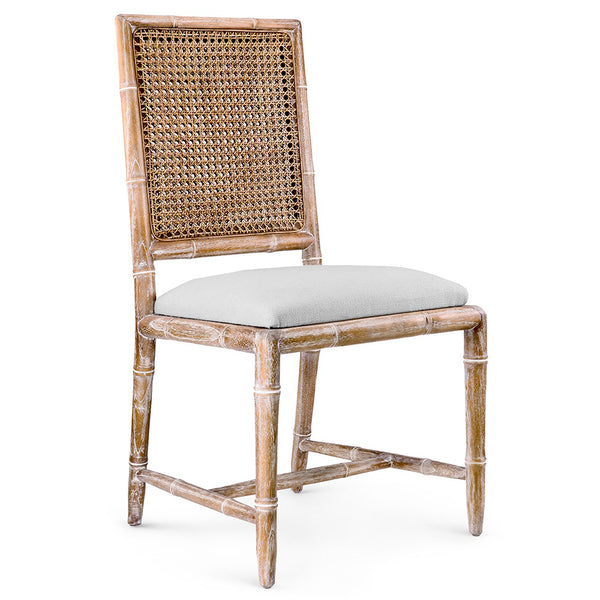 Bungalow 5 Cane Back Cape Lilac Mahogany Side Chair — Natural