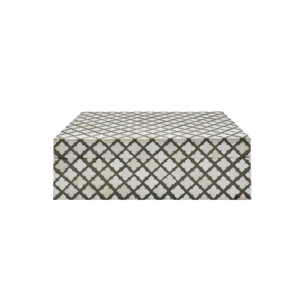 Worlds Away Decorative Box - Grey and Faux Bone