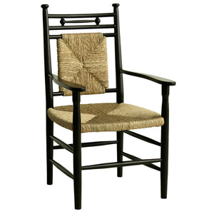 Abigail Dining Arm Chair with Woven Seat Additional Finishes Available