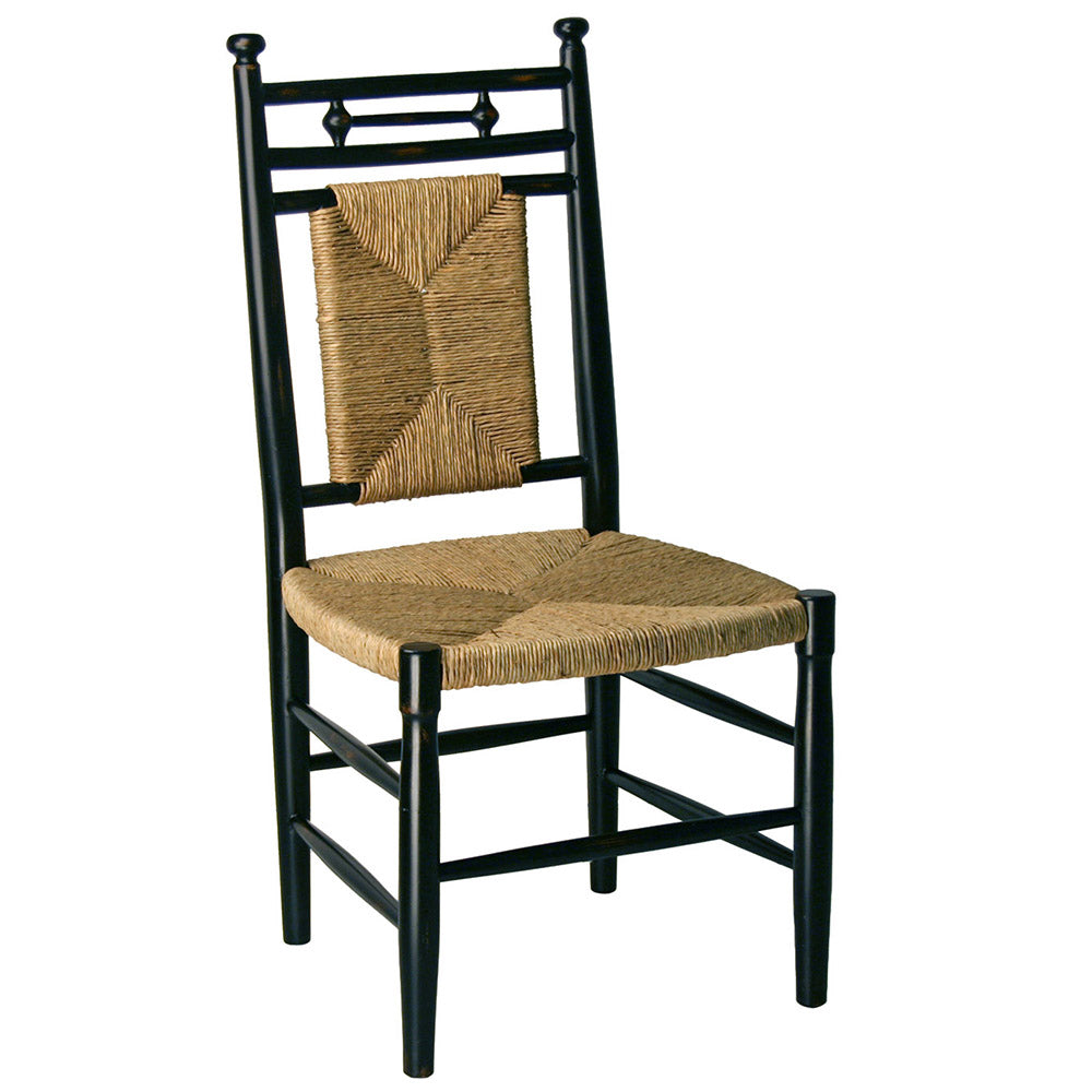 Abigail Armless Dining Chair with Woven Seat Additional Finishes Available