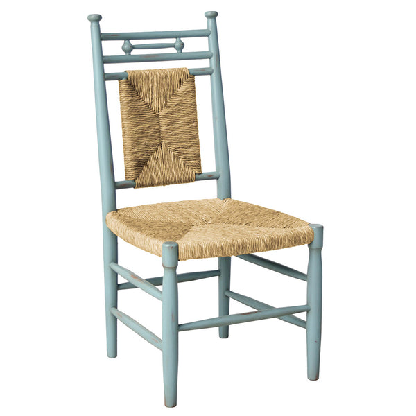 Abigail Armless Dining Chair with Woven Seat – Almond (23 Finish Options )