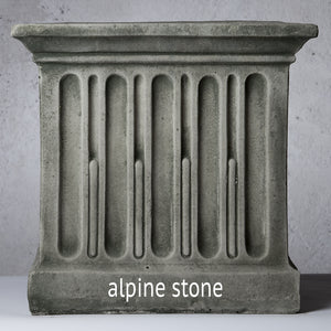 English Weave Small Stone Planter - Alpine Stone  (14 finishes available)