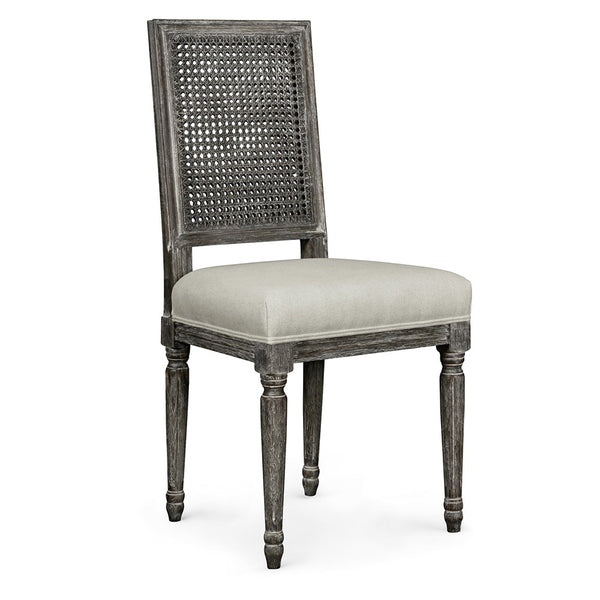 Cane Back Side Chair — Grey