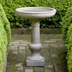 Small Tea Table Bird Bath - Verde Patina