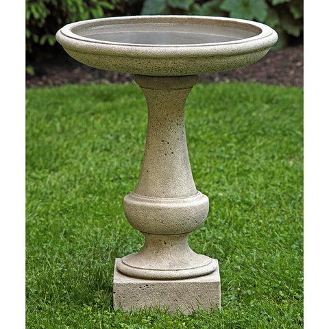 Chatham Stone Birdbath - Dark Grey Patina