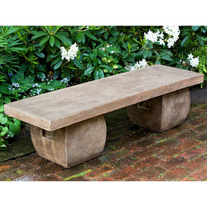 Japanese Garden Stone Bench – Brown Stone Patina