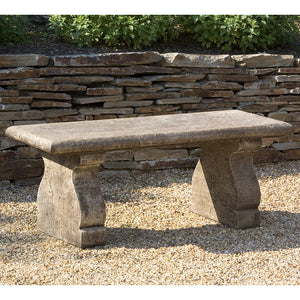 Rustic Stone Bench – Brown Stone Patina