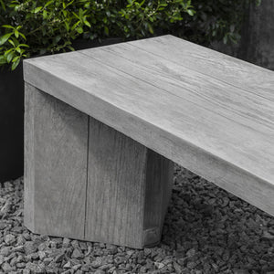 Faux Raw Oak Stone Bench – Grey Stone Patina