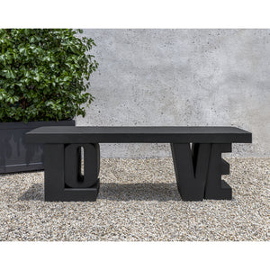 LOVE Stone Bench - Nero Nuovo (Additional Patinas Available)