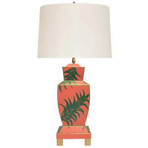 Worlds Away Tole Urn-Shaped Table Lamp – Palm