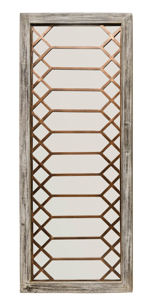 Antique Rectangular Wood Mirror
